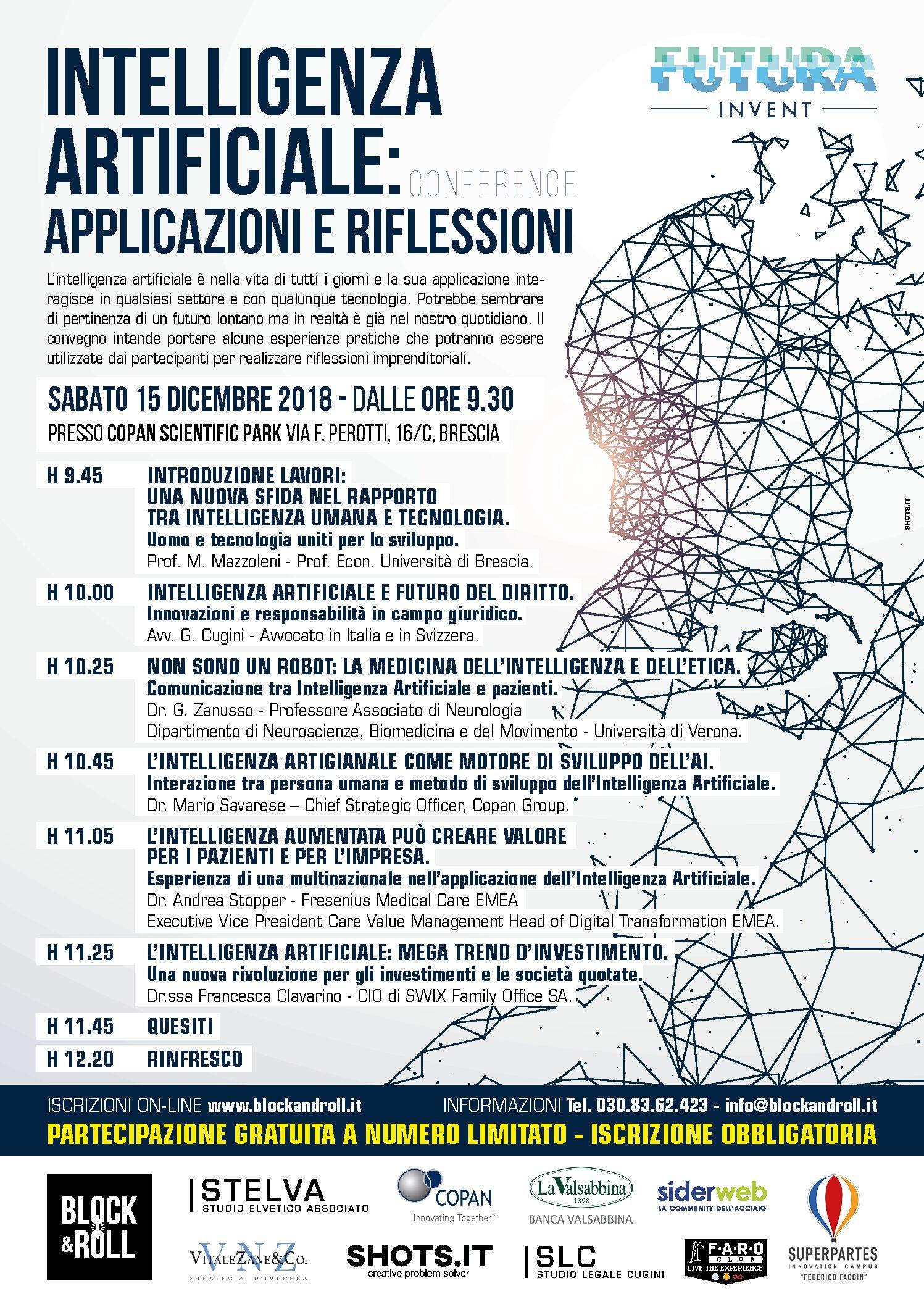 Prossimo Evento – Intelligenza Artificiale: applicazioni e riflessioni